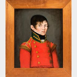 Canadian/American School, Early 19th Century      Portrait of a Canadian Military Officer Robert Richardson