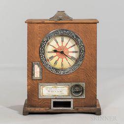 """Big Hand on Red"" Clockwork Mechanism Penny Arcade Game"