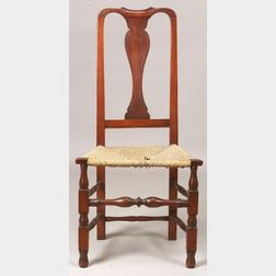 Queen Anne Maple Red Stained Side Chair