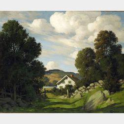 Bertram George Bruestle (American, b. 1902)  The Sparkle of Summer