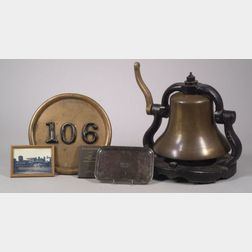 Rutland Railroad Steam Locomotive Bell and Number Plate