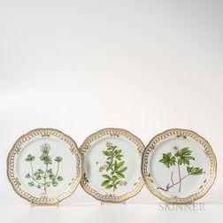 Sixteen Royal Copenhagen Flora Danica Dessert Plates