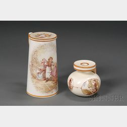 Two Wedgwood Handpainted Items