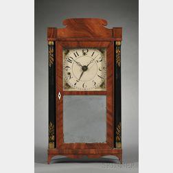 Silas Hoadley Mahogany Miniature Alarm Timepiece