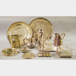 Large Group of Silver-plated Tableware