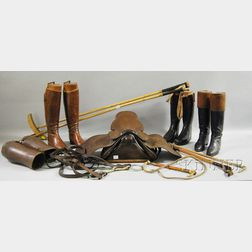 Group of Equestrian Riding Gear