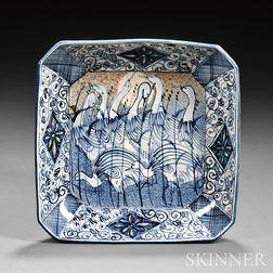Kinichi Shigeno (b. 1953) Blue and White Ceramic Dish