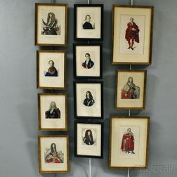 Eleven Framed Engravings of English Nobility