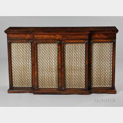 Regency Rosewood Library Cabinet