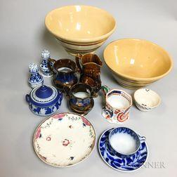 Thirteen Mostly English Ceramic Items