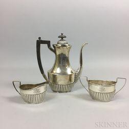 Sterling Silver Three-piece Tea Set