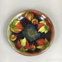 Modern Moorcroft Pottery Leaf and Blackberry Plate