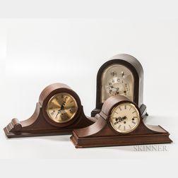Three German Westminster Chime Clocks