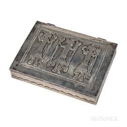 Navajo Silver Box with Yei Dancers