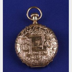 Lady's 14kt Gold Hunting Case Pocket Watch