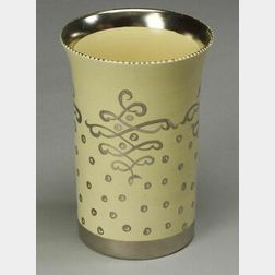 """Wedgwood """"Louise Powell"""" Silver Lustre Decorated Earthenware Vase"""