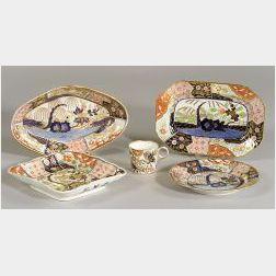 Group of English Imari Palette Ceramic Tablewares