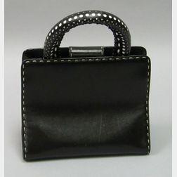 Gianfranco Ferre Black Leather Purse.