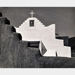 Laura Gilpin (American, 1891-1979)      Picuris Church, 1961.