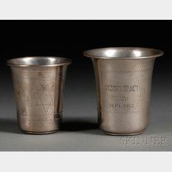 Two Silver Kiddush Cups