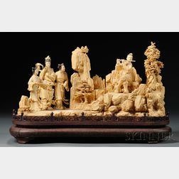 Ivory Carving of a Large Figural Group