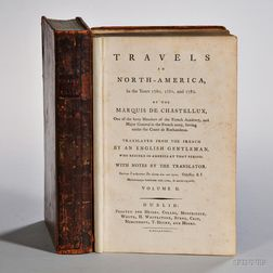 Chastellux, Francois Jean, Marquis de (1734-1788) Travels in North-America in the Years 1780, 1781, and 1782.