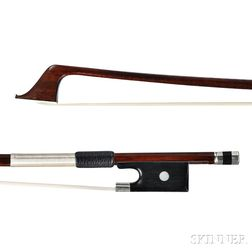 French Nickel-mounted Violoncello Bow, Jerome Thibouville-Lamy