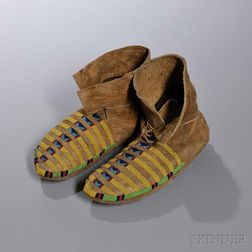 Blackfeet Beaded Hide Moccasins