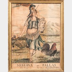 Joseph Stone (act. Framingham, Massachusetts, Early 19th Century)      Minerva or Pallas Her Image