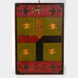 Large Two-sided Parcheesi/Checkers Game Board