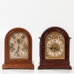 Two Seth Thomas Westminster Chime Shelf Clocks