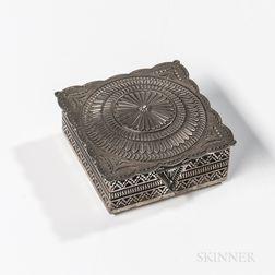 Small Navajo Silver Box by Sunshine Reeves