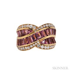 18kt Gold, Tourmaline, and Diamond Ring