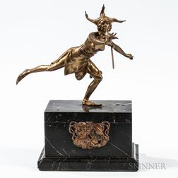 Alfonzo Titze (Austrian, 20th Century)       Bronze Sculpture of a Jester