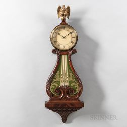 Walter Durfee Lyre or Harp Pattern Wall Clock