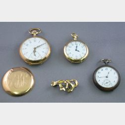 Two 14kt Gold Open Face Pocket Watches and Another