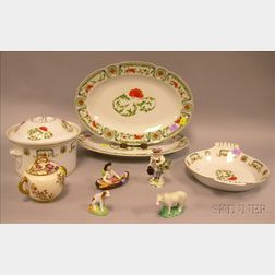 Group of Miscellaneous Porcelain Tableware and Figural Items