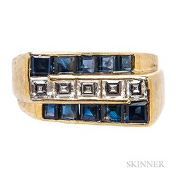 18kt Gold, Sapphire, and Diamond Ring, Oscar Heyman