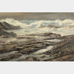 Paul Lauritz  (Norwegian/American, 1889-1975)      After the Storm, Carmel