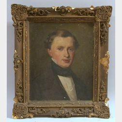 Anglo/American School, 19th Century      Portrait Head of a Gentleman.