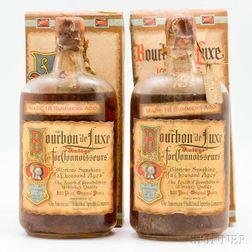 Bourbon de Luxe 18 Summers Old 1916, 2 pint bottles (oc)