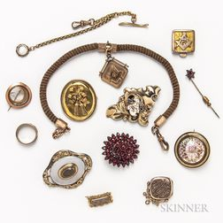 Group of Victorian Mourning Jewelry