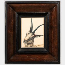 Thomas Baumgartner (German, 1892-1962)      Portrait of the Head of a Goat