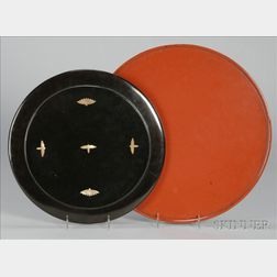Two Lacquer Trays