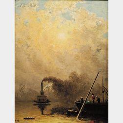 William Lewis Marple (American, 1827-1910)      The Steamboat
