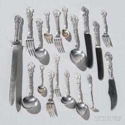 """Gorham """"Versailles"""" Pattern Sterling Silver Flatware Service"""