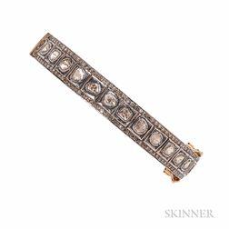 Gilt-silver and Diamond Bracelet