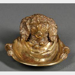 Bronze Dog Inkstand