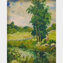 George Gardner Symons (American, 1863-1930)      Summer Landscape.