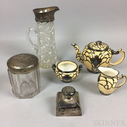 Six Pieces of Silver-mounted Tableware